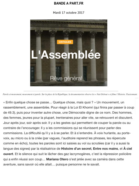 article bande à part